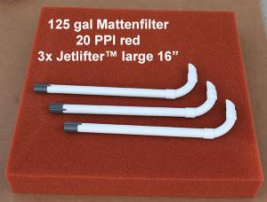 Mattenfilter 125 gal kit