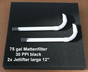Mattenfilter 75 gal kit