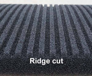 Ridge cut 2-inch black